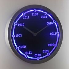 nc0714-b Binary Index Neon Sign LED Wall Clock