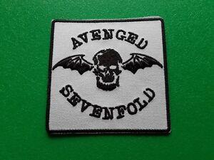 Avenged Sevenfold AX7 Patch Punk Rock Heavy Metal Pop Music Sew/Iron On Badge