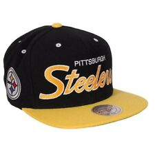 Pittsburgh Steelers NFL Mitchell & Ness  Script Snapback Hat Cap