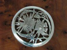 800 Silver Brooch/Flower/Real Silver / Ø: 51,0 mm / 12,9g
