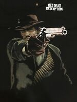 RARE VTG ROCKSTAR GAMES Red Dead Redemption Black VINTAGE POLO Shirt GameStop XL