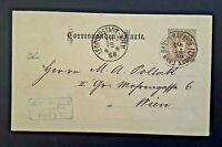 1888 Brno Austria To Leopoldstadt Vienna Austria Postcard