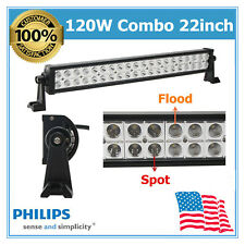 22''inch 120W LED Flood Spot Combo Work Light Bar Chevrolet Trailer F250 GMC SUV