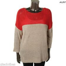JOSEPH A $99 NEW Colorblock Dolman Sleeves Pullover Sweater Plus 3X 22W-24W QCO