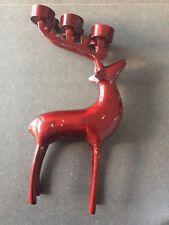 Red Reindeer 6 Tea Light Candle Holder