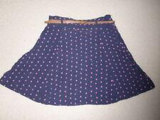 Papaya Viscose A-line Short/Mini Skirts for Women
