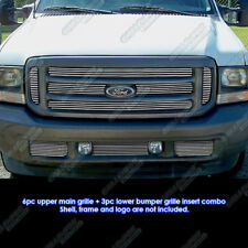 Fits 1999-2004 Ford F-250/F-350 Super Duty Billet Grille Combo