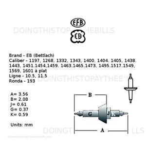 EB 1197 1268 1332 + Many - Balance Staff - Ronda 193 - 10.5 11.5''' (BC452)