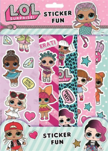 LOL Surprise Sticker Fun Set 5 Strips of Reusable Stickers Party Bag Fillers New
