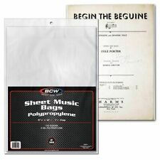 800 BCW Sheet Music Bags - acid free - archival quality 1½ inch flap Poly 2 mil