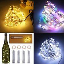 2M 20 luces de botella de vino LED Cork con batería alambre de cobre de cadena