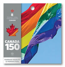 Canada 150: Permanent Domestic stamps - Booklet of 8 (Marriage Equality)   -MNH