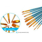 Lot 10Pcs Nylon Acrylic Paint Brushes For Art Artist Supplies Watercolor Tools