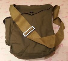 Vintage Soviet USSR Russian Gp-7 Gas Mask Canvas Carrier Bag Military Army