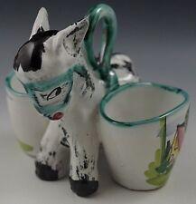 Vietri 1950's Ics Gambone Italy Donkey With 2 Baskets Very Rare #65