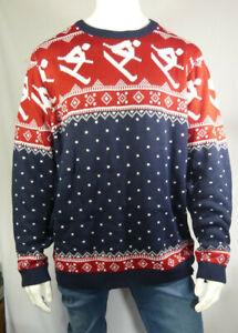 Men's Big & Tall Skiing Fairisle Christmas Jumper Size 3XL RRP £24 MJOct06-2
