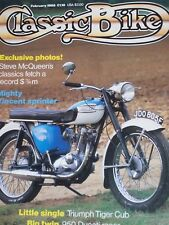 Classic Bike 02/85 Triumph Tiger Cub Test . Buyer's Guide-Ariel 500ccTwins, Velo