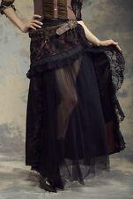 RQBL Steampunk Victorian Gothic Goth Cowboy Burlesque Theater Long Skirt