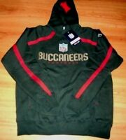 Tampa Bay Buccaneers Sideline Valiant Hoodie Medium Embroidered Logos NFL