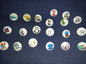 5 Cute Children's Picture Buttons - in 20 Designs - 15mm