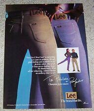 1983 vintage ad - sexy TAI BABILONIA figure ice skater Lee cord Jeans PRINT AD