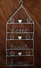 HOME Sweet Home Cartello Placca Muro ARTE Cuore Vintage Shabby Chic Color Crema Stile Retrò Nuovo