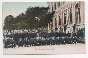 1908 Postcard showing the Hong Kong Fire Brigade