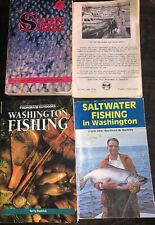 Lot of 3 Washington Fishing Books: Saltwater Fishing(2) and Washington Fishing