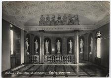 cartolina MILANO pinacoteca ambrosiana-esedra superiore
