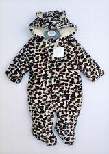 d81270e55 Baby Unisex Boy Girl Leopard Print Faux Fur All In One Snowsuit Size 6-12