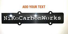 """B16 b18 DOHC VTEC B-Series Custom CARBON FIBER Spark Plug Cover """"YOUR TEXT"""""""