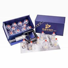 Hansol Cupping Therapy Equipment Set with Pumping Handle 17 Assorted Sizes