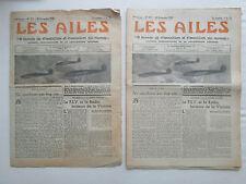 LES AILES 1939 957 GUERRE AERIENNE WWII HENSCHEL 126 PSV RADIO PARACHUTE KOHN