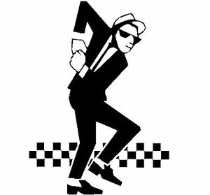 Ska man rude boy music style Mod Skinhead Vinyl wall Decal Sticker