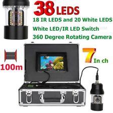 7 Inch 100m Underwater Fishing Video Camera Fish Finder IP68 Waterproof 38 LEDs