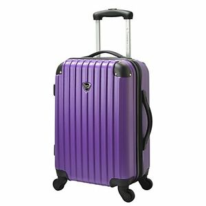 Travelers Club Chicago 20 Inch Hardside Carry On Luggage Purple HS-20720-510