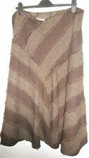 EWM BROWN/BEIGE Skirt PLUS  Size 20 UK Style By Edinburgh Woollen Mill