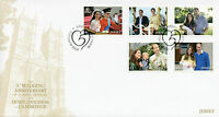 Jersey 2016 FDC Prince William & Kate 5th Wedding Anniv 5v Set Cover Stamps