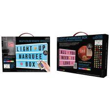 Cinema light up box LED Message board multicolor Brand Tzumi 144pcs Full abc's