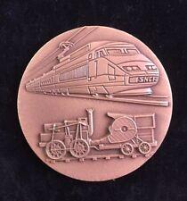 Très Rare Médaille SNCF 150ème Anniversaire Du Chemin De Fer De France 1832-1982