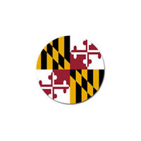 New Maryland State Flag Golf Ball Marker Free Shipping