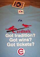 ST. LOUIS CARDINALS MLB BASEBALL WORLD SERIES TICKETS RIVALRY T-Shirt LARGE NEW