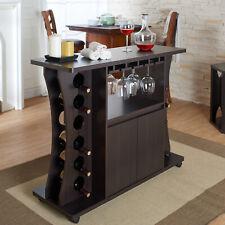 Bar Liquor Cabinet 12 Bottle Holder Wine Rack Buffet Server Kitchen Island