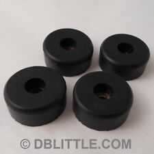 """4 Hard Black 1.5"""" x 0.63"""" Rubber Feet for Guitar Amps, Combos, Speaker Cabinets"""