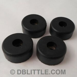 "4 Hard Black 1.5"" x 0.63"" Rubber Feet for Loudspeakers, Stage Monitors, Cases."