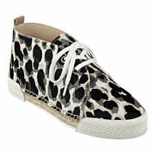New with box Nine West Optics Lace-Up Sneakers Espadrille Taupe Pony Size 6.5