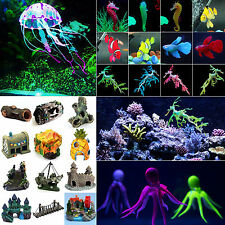 Various Artificial Water Animals Aquarium Fish Tank Landscaping Ornaments Decor