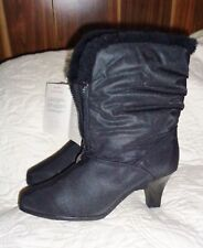 New With Tags Hush Puppy Boots Gale Weather Resistant Size 9 Wide Black