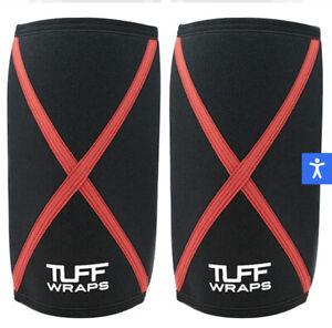 tuff wraps 7mm power series knee sleeves MENS XXL weightlifting power lifting