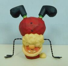 Small Santa standing on head with wire arms & hands - New Blossom Bucket #80144B